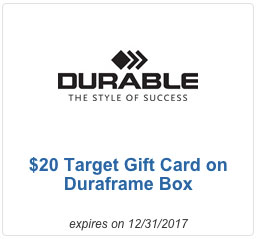 DURABLE $20 Card