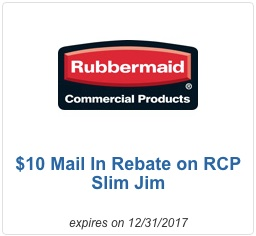 RUBBERMAID $10 Rebate