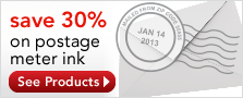 Save 30% On Postage Meter Ink