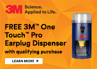 FREE 3M Earplug Dispenser